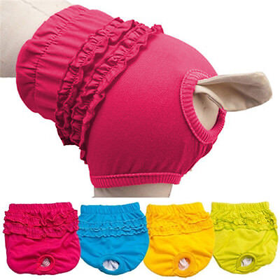 Female Dog Puppy Nappy Diaper Belly Wrap Band Sanitary Pants Underpants XS-L