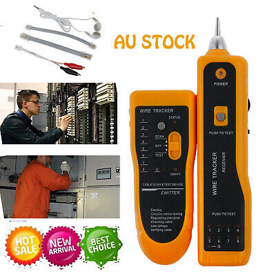 AU Telephone Network Cable Line Wire Probe Tracker Tester Tone Generator Finder