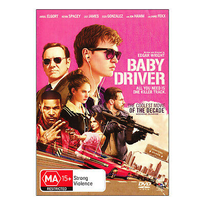 Baby Driver DVD Brand New Region 4 Aust. - Ansel Elgort, Kevin Spacey