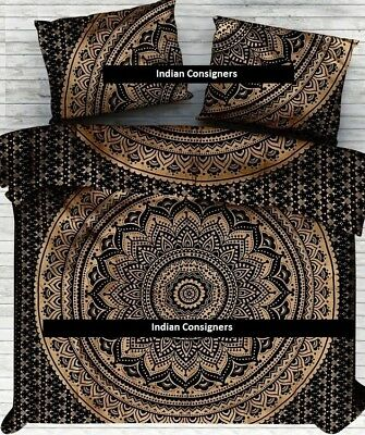 Ombre Mandala Cotton Bedding Comforter Doona Queen Duvet Cover Bohemian Indian