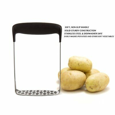 Home Kitchen Stainless Steel Potato Masher Heat Resistant Vegetable Tool GD