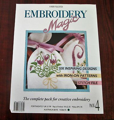 EMBROIDERY MAGIC No 4  - 6 Designs with Iron-on Patterns Creative Embroidery