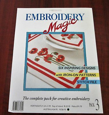 EMBROIDERY MAGIC No 3  - 6 Designs with Iron-on Patterns Creative Embroidery