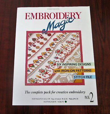 EMBROIDERY MAGIC No 2 - 6 Designs with Iron-on Patterns Creative Embroidery