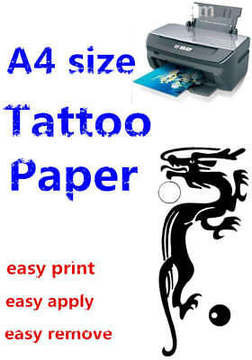 A4 New TemporaryTattoo kit Transfer Paper DIY Inkjet Waterproof Tattoo