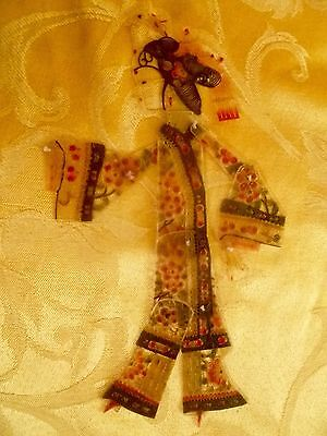 Antique Handmade Chinese Opera Shadow Puppet - Female Figure