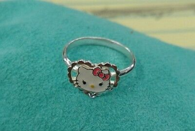 Sanrio Hello Kitty Size 3 Sterling Silver Ring 925