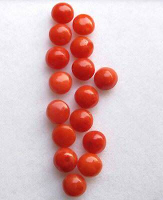 7.20 Cts Excellent Quality Natural Red Italian Coral Loose Gemstone lot