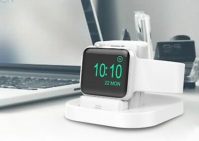 shApple Watch Stand (White) with Nightstand Mode, charging dock for Apple Watch