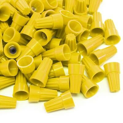 200 pcs Yellow Screw On Wire Electrical Connectors Twist-On Easy Screw Pack