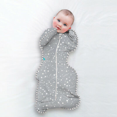 Love to Dream Baby Hands Up Easy Swaddle Blanket Newborn - 11kg Bamboo Grey Star