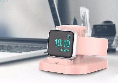 Apple Watch Stand (Pink) with Nightstand Mode, charging dock for Apple Watch