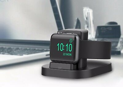 Apple Watch Stand (Black) with Nightstand Mode, charging dock for Apple Watch