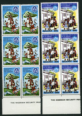 Nigeria 1987 Mnh Set International Year Of Shelter For The Homeless