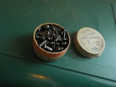 "Paper Fasteners No 3 Round Head Made In Usa 3/4"" Vintage"