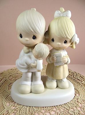 "Precious Moments figurine 1980 Jonathan & David ""Rejoicing with You""  E-4724"