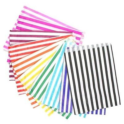 """Candy Stripe Paper Party Sweet Bags 5"""" x 7""""  New"""