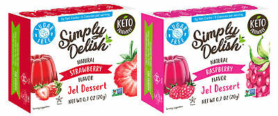 Simply Delish  Natural Jel Dessert Sugar Free Variety Pack - 2 Ct - Pack of 1