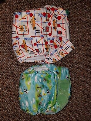 Tots Bots EasyFit AIO One Size Cloth Diaper LOT of 2 diapers( lot #4)