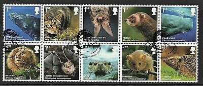 GB Stamps 2010 'Action for Species - Mammals' sg3054-63 - Fine used