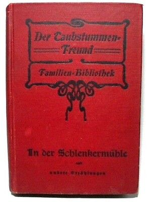 1905 German Book The Deaf-mute Friend Family Library w/English Advertising Pages