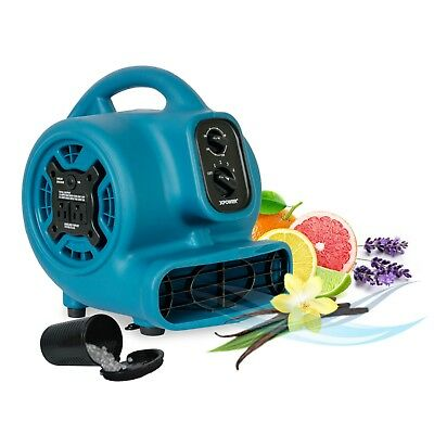 XPOWER P-260AT 1/5HP Portable Mini Scented Air Freshener Fan w/ Outlets & Timer