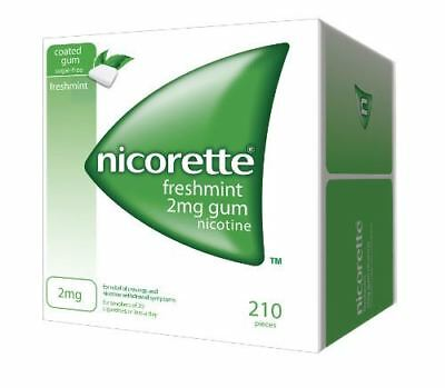 Nicorette Nicotine Chewing Gum 2mg Freshmint Flavour - 210 Pieces