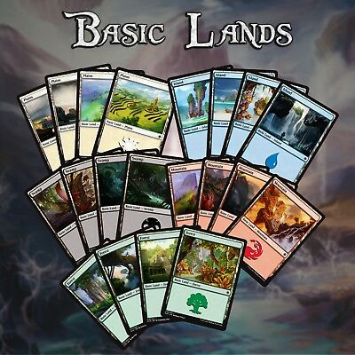 Mtg Magic the Gathering - Basic Land x 25 - Choose your Colour