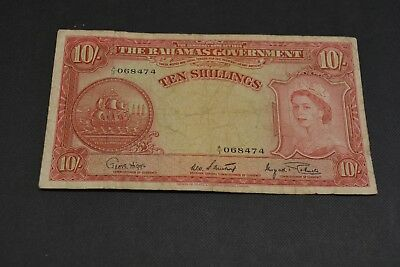 Bahamas, Government of the Bahamas - 10 Shillings, 1936 Beautiful Note
