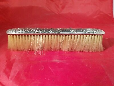a solid silver grooming brush birmingham.1915
