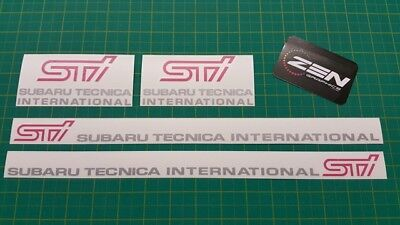 Subaru Impreza classic GC8 STI WRX Door & Fog Cover decals stickers Silver& PInk