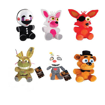 6Pcs Five Nights at Freddy's FNAF Horror Game Plush Doll Kids Plushie Toy Set 7""