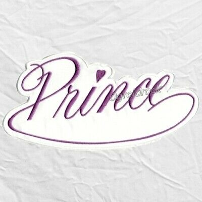 Prince Logo Embroidered Big Patch Rogers Nelson Purple Rain Rock Band Love Sign