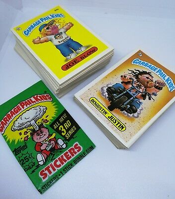 Garbage Pail Kids Card Lot Near Complete Original Series 3 39 Original Series 2