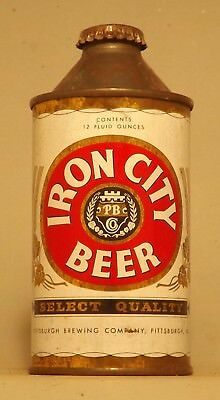 Indoor Iron City #2 Cone Top Beer Can with Crown Cap - Pittsburgh, PA