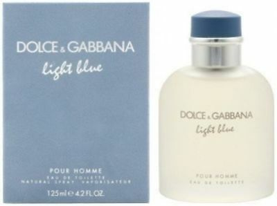 Dolce Gabbana Light Blue Pour Homme 4 2 Oz Edt Spray For Men Nib