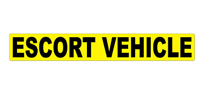 ESCORT VEHICLE MAGNET MAGNETIC Lorry Truck Trailer  Towing Volvo DAF sticker 1