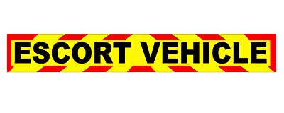 ESCORT VEHICLE MAGNET Chevron MAGNETIC Wide load Long Vehicle In Convoy x1
