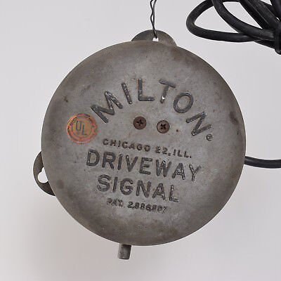 Original WORKING Vintage Milton Driveway Gas Oil Station Signal Bell May 1959