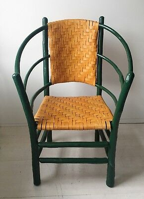 Unique Vintage Old Hickory Chair - Andrew Jackson 3 Hoop Style Chair Signed