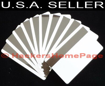 10 pcs Blank PVC Magnetic Stripe Cards Credit Card ID Type