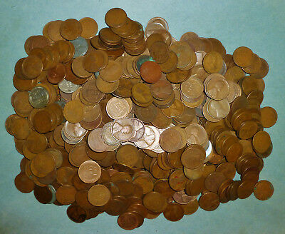 747 mixed Wheat Pennies - MUCH HIGHER PERCENTAGE OF TEENS AND TWENTIES