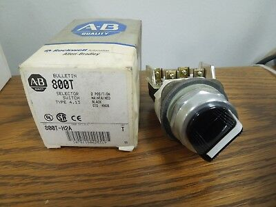 Allen Bradley 800T-H2A Selector Switch 2 Position Maintained Black New in Box