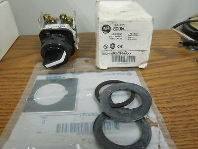Allen Bradley 800H-NR2KG4AAXX Selector Switch 4 Position Maintained New in Box