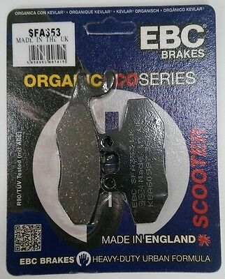 Piaggio Fly 125 (2005 to 2015) EBC Organic FRONT Disc Brake Pads (SFA353) 1 Set