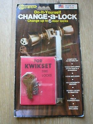 Change-A-Lock For Kwikset Only 5 Pin Key For Up To 6 Entrance Or Deadbolt