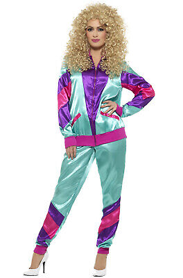 Brand New 80s Female Shell Track Suit Workout Gear Adult Costume