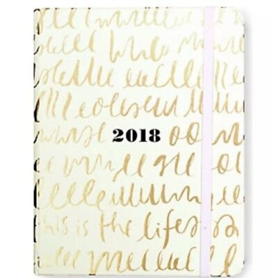 KATE SPADE - 2017- 2018 Agenda - Planner - This is the Life - Medium, NEW