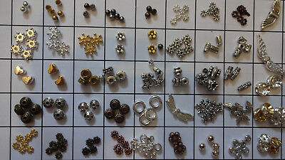 100x Premium Quality Spacers Beads Various Colour Style and Size