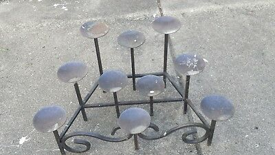 Vintage  Wrought Iron Fireplace Candelabra 10 Pillar Gothic